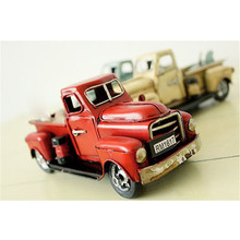 Nostalgia Iron Car Craft Childhood Toy Gift Antique Pickup Truck Model Decoration Lover Boy Girl Birthday Gifts