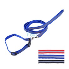 Fashion Nylon  Dog Reflective Collar Striped 3 Size Choose Ribbon Pet Dog Collar Night Safety Free Shipping