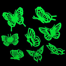 Butterflies Glow in the Dark Fluorescent Plastic Home Decorate Wall Sticker