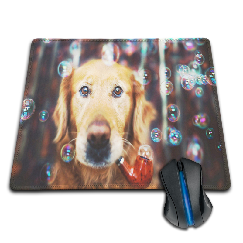 Babaite Lovely Dog Hubble Bubble Pipe Computer Printed Mouse Pad Custom Made Rubber Mouse Mat Get Your Own Style 180X220X2mm(China (Mainland))