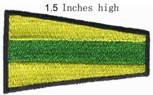 "ICS Pennant Prepare Flag embroidery patch 1.5""high shipping/subsize patch/light flag/cloth item"