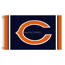 Chicago Bears Flag Banners Football Team Flags 3x5 Ft Super Bowl Champions Banner Red Star World Series 90x150 Cm