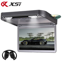XST 13.3 Inch Car Ceiling Roof mount DVD Player Flip Down 1080P Video HD Digital TFT Screen USB/SD/HDMI/MP5/IR/FM Transmitter(China)