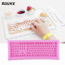 Keyboard Shape Fondant Cake Silicone Mold Bread Biscuits Pastry Mould Candy Chocolate Molds Cake Decoration DIY Baking Tool M088(China)