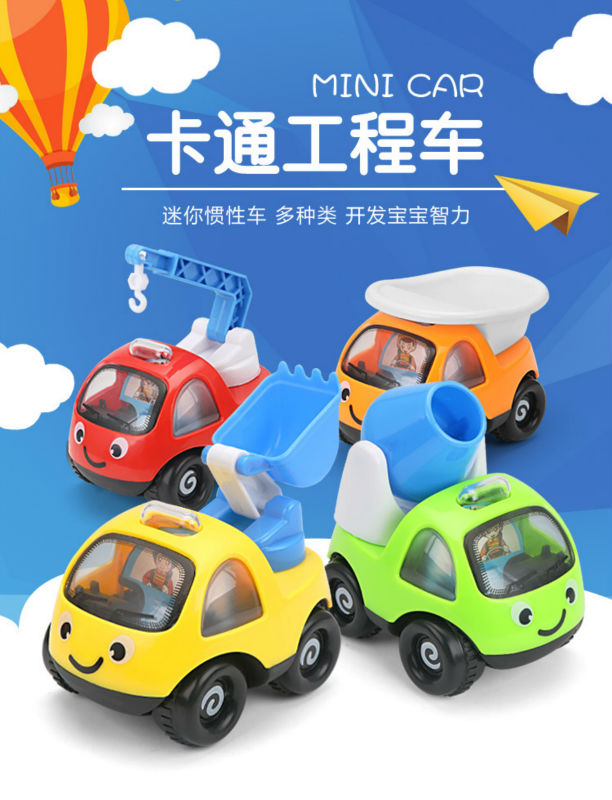 Mini Cars Cartoon Pull Back Bus Truck Kids Toys Children Racing Car For Baby Children Gifts<br><br>Aliexpress