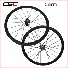 700C Cycling Carbon Track Wheels 38/50/60/88mm Tubular Clincher Fixed Gear Wheelset With Fixed Gear Hub(China)