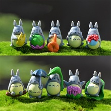 10Pcs/lot Cute Cartoon figure gifts doll resin miniature figurines Toys PVC plactic japanese cute lovely anime(China)