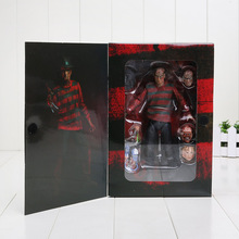 "7"" 17CM NECA A Nightmare on Elm Street Freddy Krueger 30th PVC Action Figure Collectible Toy"