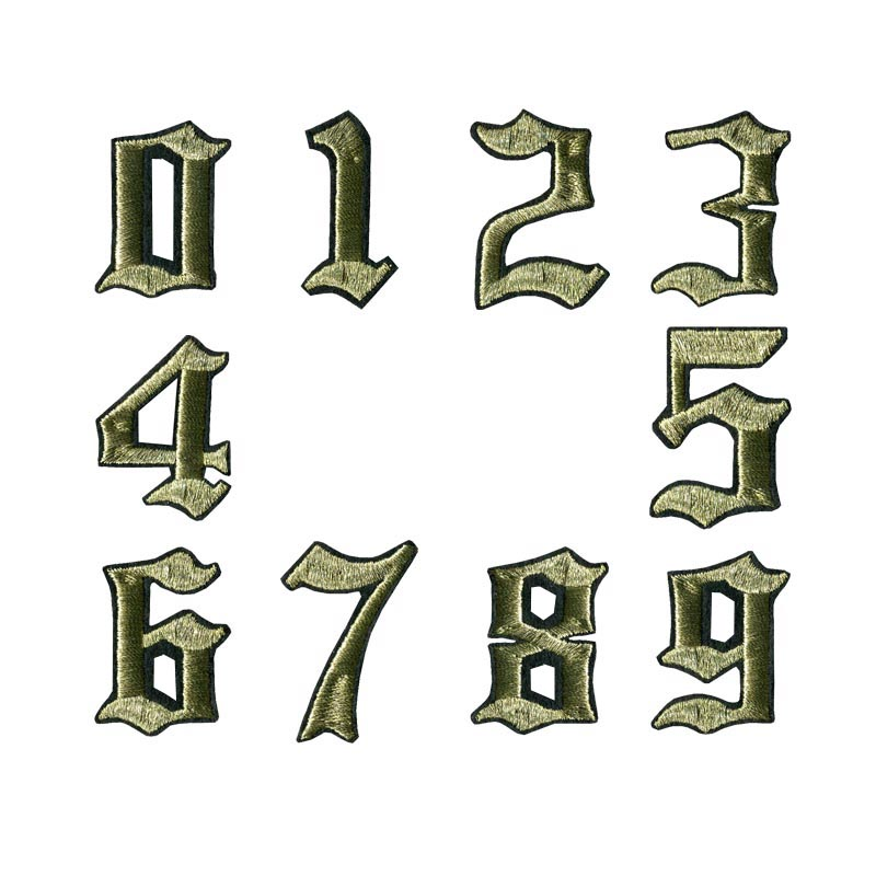 """Letter---1 3//4/"""" Gold Metallic Letters Embroidery Iron On Applique Patch //1PC"""
