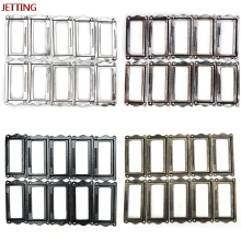 Jetting 10 Pcs Antique Brass Metal Label Pull Frame Handle File Name Card Holder For Furniture Cabinet Drawer Box Case Bin