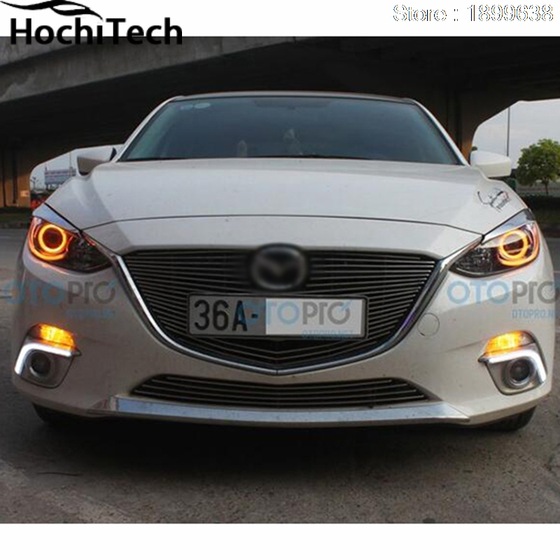 for mazda 3 2010 2011 2012 2013 2014 LED perimeter headlight rings halo Multi-color RGB angel demon eyes<br>