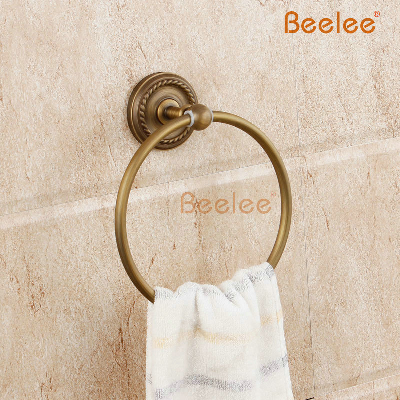 Beelee BL6111A  Antique fashion beelee towel ring copper vintage towel rack towel Antique Brass Carved Vine Towel Ring<br><br>Aliexpress