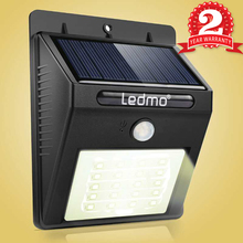 Solar Led Light 20LED PIR Motion Sensor Wall Lamp Outdoor Waterproof Powered Lamp With Panel For Garden Stairs Street Decoration