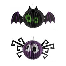 Halloween Props Paper Lanterns Spiders Shape Hanging Ornaments Festival Scene Layout Party Decoration Prank Gift New
