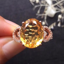 ON SALE only one piece gems 10.7*13.6mm  s925 silvery fine jewelry 925 sterling silver natural citrine ring promise ring