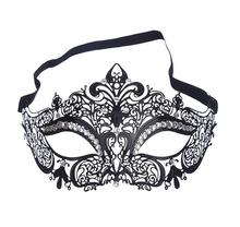 PMYUMAO High quality painted metal Venice mask inlaid crystal wrought iron party masks Noble Ball Wedding Masquerade Mask(China)