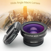 Mobile Phone Clip Professional 37MM 0.45X 49UV Super Wide Angle + Macro 2-In-1 Phone Macro Camera Lenses lente para celular