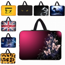 Many Designs Hot 7 10 12 13 14 15 17 inch Notebook Computer PC Sleeve Bag Handle Carry Cases Soft Protector Pouch Wholesale New