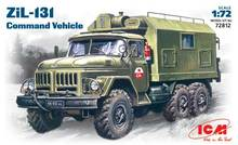Military Model 72812 1/72 Soviet ZIL-131 Command Truck Model 1:72 Plastic Assemble Toy(China)