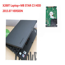 2015.07  Version C3 HDD For MB Star C3 Software for Mercedes Benz Auto Diagnostic Tool Promotion with Used X200T Laptop