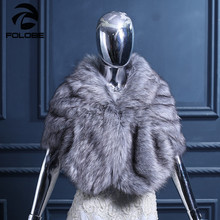 Hot Sale Fashion Wedding Cape Faux Fur Wraps Shawl Evening Party Prom Wraps Women Warm Autumn Winter Shawls(China)