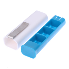 Portable Pill Box 3 Containers Medicine Storage Holder Case with Clip Travel Pills Case Container Clip
