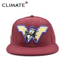 CLIMATE 2017 New Style DC Heroine Shero Wonder Woman Flat Snapback HipHop Caps Hat Unisex Youth Adult Women Red Snapback Cap