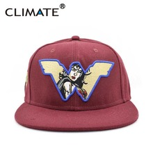 CLIMATE 2017 New Style DC Heroine Shero Wonder Woman Flat Snapback HipHop Caps Hat Unisex Youth Adult Women Red Snapback Cap(China)