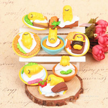 High quality 10set/80pcs Japan Sanrio Gudetama Lazy Egg Mini Plastic Ornaments PVC Cute Action Figure Collection Model Toy Doll