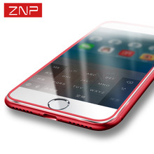 3D luxury hard Full TempereTempered glass For iphone 7 6 PLUS RED Aluminum alloy hard Full screen Protect Film for iPhone 6 6s