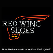 Red Wing Neon Sign Shoes Neon Bulbs Store Display Real Glass Tube Custom Design Outdoor a Frame Sign Neon Window Lights 19x15(China)