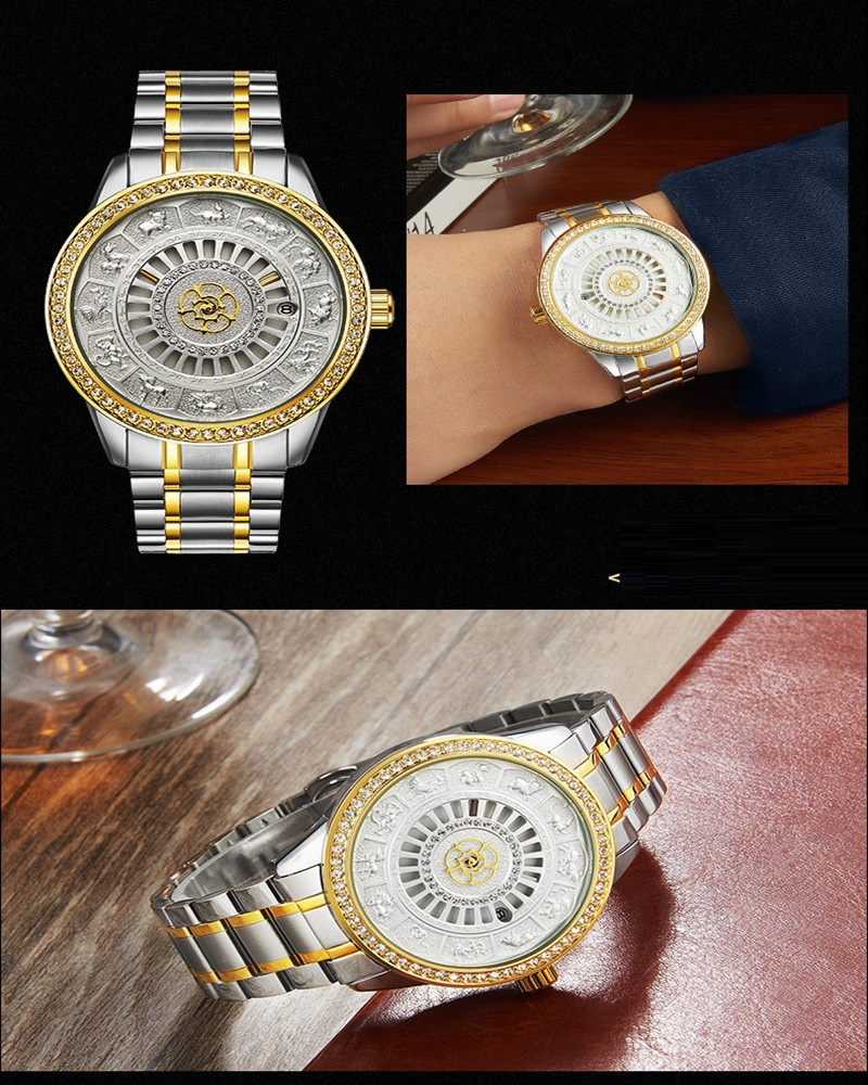 02018 New TEVISE Zodiac Signs Men Watch Automatic Mechanical Wristwatches Limited Edition Watch Men Gold Male Clock saat erkekler (15)