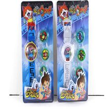 2016 New Anime DX  Yokai Watch Lighting sound watch projection watch LED projector cartoon kids toys Christmas gift