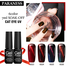 Paraness Red Series 3D Cat Eyes UV Gel Nail Polish Long Lasting Lucky Nail Gel Polish Soak Off Magnet Uv Gel Varnish Art(China)