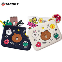 Tagdot Laptop bag case 10 11 12 13.3 14 15 15.6 inch For Macbook air pro 13 Case for lenovo Laptop bag sleeve 2017 NEW(China)