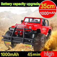 upgrade 1000mAh 1:12 35CM Resistance to fall Charge High Speed drift RC Toy Car BigFoot Hummer SUV Lights&Shock Xmas Kids Gift