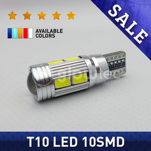 1PC T10 10SMD CANBUS 5630 SMD 194 W5W LED Error Free Car Light Automotive CAN BUS Lamp Auto Bulb White red blue yellow GLOWTEC(China)