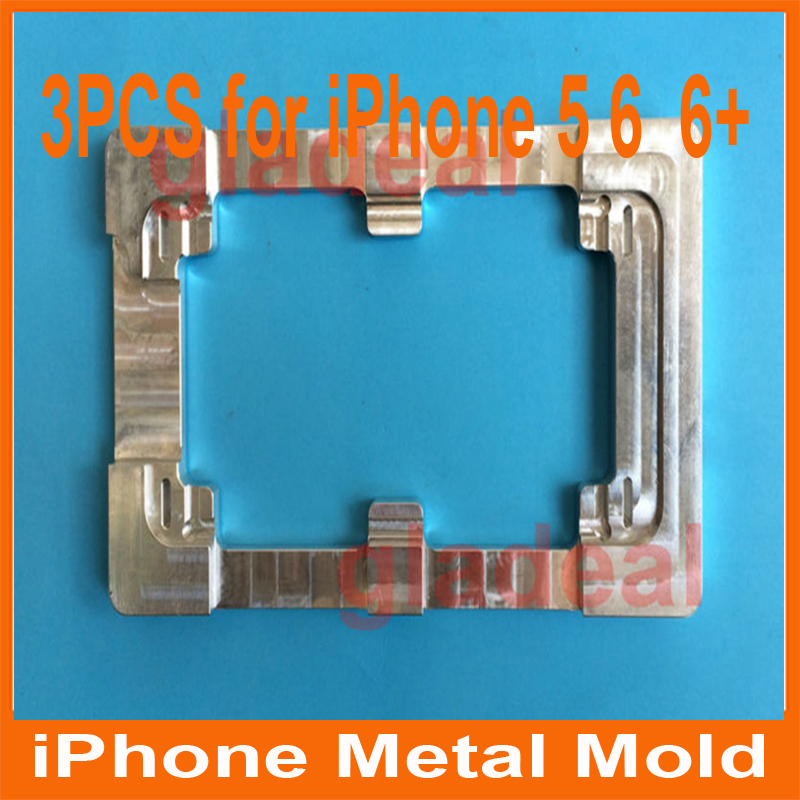 3PCS Quality Aluminium Alloy Refurbishment Glueing Repair LCD Outer Glass Mould Mold For iPhone 5+ iPhone 6 4.7 +iphone6 +  5.5<br>