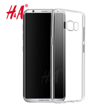 H&A Silicone Case For Samsung Galaxy S8 Transparent Phone Back Cover Soft TPU Coque For Samsung Galaxy S8 Plus Case