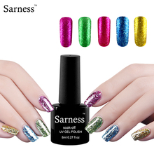 Sarness Platinum Series UV LED Gel Varnish lucky Color Soak Off Long-lastting UV Gel Nail Polish Blue lucky Nail Glue