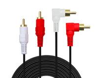 2 RCA M/M Stereo Audio Cable - Premium Gold Plated( Copper Core)2RCA Male to 2RCA Male [Left / Right] Premium Sound Quality Plug