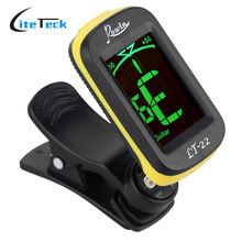 LT-22 Automatic Digital LCD Electronic Tuner Clip-On Acoustic Guitar Tuner for Electric Bass Chromatic Violin Ukulele