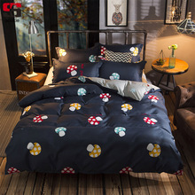 Sookie Fashion Bedding Set Cartoon Mushroom Print Duvet Cover Bed Sheet Pillowcase 4/6pcs Twin Full Queen King Size Bed Linen(China)