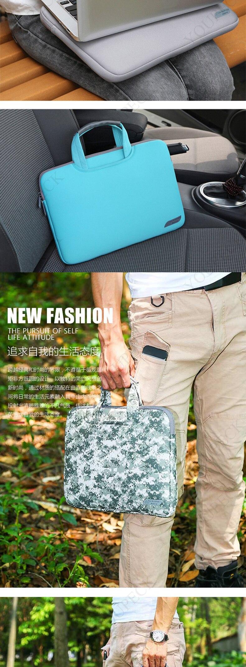 Breathable Laptop Bag for Macbook Air 13 12 Pro 13 Case Sleeve Women Men Protective Bag for Mac book Touchbar 13 15 Case Cover