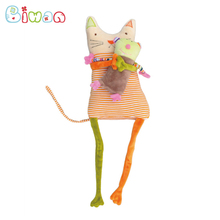 Biwan Colorful Musical Animal Plush Toys Set Cat and Mouse Soft Cute Cartoon Kids Toys With Music Box Children's Birthday Gifts(China)