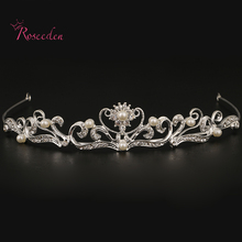 Fasshion Alloy Wedding Tiaras and Crowns bridal wedding Hair Band High quality floral design women girls hair jewelry RE686(China)