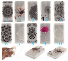 Luxury 3D Sparkling Diamond Soft TPU Phone Case for Alcatel One Touch Pixi 4 5.0 OT 5010 5010D Mandala Flowers Ultrathin Cover