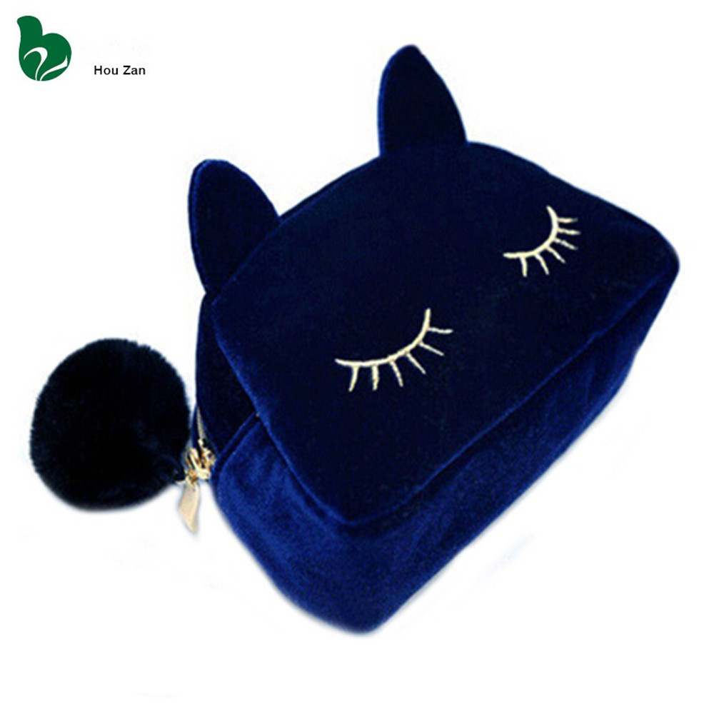 Cat Necessaire Trip Beautician Women Neceser Travel Make Up Makeup Storage Vanity Case Pouch Cosmetic Bag Toiletries Organizer(China (Mainland))
