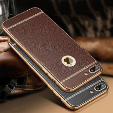 5XIAOHUO Fashion leather phone case For Apple iPhone 5s 6s Case Leather soft TPU material For iPhone 5s 6 7 Plus covers