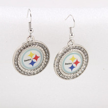 American Football Pittsburgh Steelers Charms Earrings Drop Shipping(China)